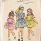 Girls' Frilly Retro 70s Dress Sz 3 Vintage Simplicity Sewing Pattern 5437 Ruffled Cute Dolly Dress