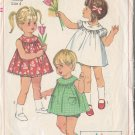 Sweet Girls' Vintage 60s Dress Sz 4 Retro Simplicity Sewing Pattern 6995 Trapeze Dolly Dress Panties