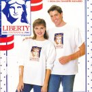 Unisex T-Shirt Heat Transfer Size Xs-L Uncut Butterick 499 Statue of Liberty Head 1886 Centennial