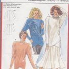 80s Power Glam Top and Skirt Size 8-20 Uncut Burda 5893 Glitz Crossover Hem Sweater Tulip Gore Skirt