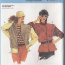 80s Women's Jacket Vest Size 8-16 Uncut Burda 6976 Edgy 80s New Wave Michael Jackson Thriller Pleats