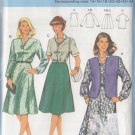 Flared Two Piece Dress and Vest Size 14-44 Uncut Burda 7990 Secretary Chic Blouse Skirt Waistcoat