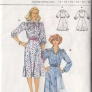 80s Indie Boho Retro Dress Size 12-40 Uncut Burda 8887 Vintage Secretary Chic Puff Gathered Sleeves