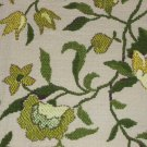 Dandelions Floral Vintage Tapestry Brocade Green Yellow Cotton Hippy Boho Chic Fabric Home Dec Craft