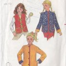 Girl's Indie Boho Reversible Jacket Size 10 Uncut Butterick 3307 70s Vest Mandarin Collar Hippy Chic