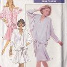 Retro 80s Blouson Tie Dress Size 14-18 Uncut Butterick 6287 Vintage Feminine Glam Elegant Lady Chic