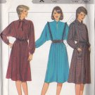 Pullover Western Dress Vintage 80s Size 12-16 Uncut Style 4019 Retro Ladylike Secretary Office Chic