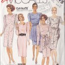 Feminine Flirty 80s Cocktail Dress Size 8-12 Uncut McCall's 3475 Peplum Apron Sash Pretty Retro Chic
