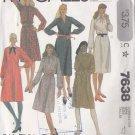 Retro 80s Secretary Schoolteacher Dress Size 10-14 Uncut McCall's 7638 Office Feminine Shirt Dress
