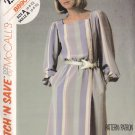 Feminine Chic Office Schoolteacher Dress Size 6-10 Uncut McCall's 8890 Stylish Retro Secretary Dress