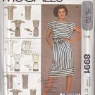 Casual Fun Sporty Separates Size 16 Uncut McCall's 8991 Relaxed Stylish 80s Batwing Top Skirt Dress