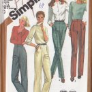 Women's Classic Formal Dressy Trousers Size 14 Uncut Simplicity 5205 Tapered Straight Pleated Pants