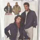 Unisex Denim Cowboy Western Jacket Size M Uncut Simplicity 8177 His and Hers Casual Weekend Topper