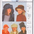 Child's Caps Winter Hats Size 18.25-21.25 Burda Sewing Pattern 2620 Baseball Sun Hat Fur Ear Flaps