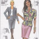 Ladylike Peplum Jacket Skirt Suit Size 8-18 Uncut Burda 3453 Office Chic Stylish Professional Wear
