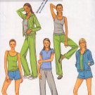 Yoga Jogging Running Workout Wear Size L-XL Uncut Butterick 4198 Trendy Sporty Casual Lounge Outfit