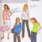 Stylish Yoga Pilates Lounge Wear Size L-XL Uncut Butterick 4404 Sporty Comfort Knit Zen Lifestyle