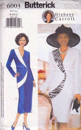 Avant Garde Asymmetrical Skirt Suit Size 8-12 Uncut Butterick 6003 Stylish Sophisticated Socialite