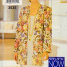 Basic Sleeveless Shift Cardigan Jacket Size 12-16 Uncut Butterick 3535 Easy Dress Cover-up Topper