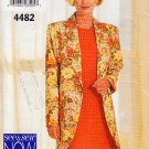 Shift Dress Loose Fit Blazer Size 18-22 Uncut Butterick 4482 Chic Elegant Silhouette Notched Collar
