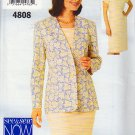 Raglan Sleeve Dress Roomy Cardigan Size 18-22 Uncut Butterick 4808 Basic Chic Tapered Dress Cardigan