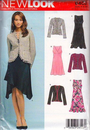 7a729c9f77ffe1 Sophisticated Femme Chic Dress Suit Size 6-16 Uncut New Look 6402 Elegant  Empire Waist Dress Jacket