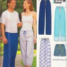 Unisex Elastic Waist Lounge Pants Sz Xs-XL New Look Sewing Pattern 6764 Casual Pajama Sleep Shorts