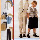 Boy's Preppy Shirt Vest Outfit Size 3-5 McCall's Sewing Pattern 2639 Dressy Formal Pants Shorts