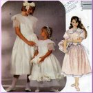 Flower Girl Bridesmaid Dress Size 7-10 McCall's Sewing Pattern 6860 Gathered Skirt Peter Pan Collar