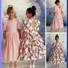 Princess Flower Girl Dress Size 4-6 McCall's Sewing Pattern 9235 Basque Waist Ruffles Frills Bows