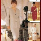 Mother-of-the-Bride Sophisticated Dress Skirt Suit Size 14 Uncut McCall's 9283 Elegant Formal Outfit