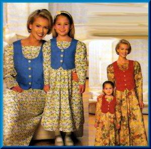 McCalls 2712 Mother Daughter Dress Pattern UNCUT [9911012712] - $