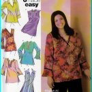 Pullover V-neck Hippy Tunics Plus Size 18W-24W Uncut Simplicity 4968 Feminine Easy Tops Khaliah Ali