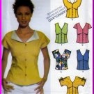 Button Front Top Shaped Bodice Size 4-10 Uncut Simplicity 5059 Gathers Sleeveless Extended Shoulders