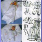 Newborn Baby's Christening Gown Romper Size XXS-M Simplicity Sewing Pattern 5813 Bonnet Slip Jacket