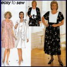 Elegant Draped Flowing Cardigan Dress Plus Size 18W-24W Uncut Simplicity 7558 Pretty Classic Pleats