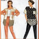 Color Block 90s Shirt and Pants All Sizes Uncut Simplicity 7769 Casual Slim Pants Shirttail Blouse