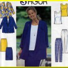 Easy Chic 3-Hour Separates Outfit Size L-XL Uncut Simplicity 7973 Basic Cardigan Tank Top Skirt Pant