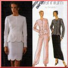Sophisticated Ladylike Skirt or Pants Suit Size 6-10 Uncut Simplicity 8519 Scallop Hem Fitted Jacket