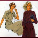 Vintage Secretary Schoolteacher Pleated Dress Sz 14 Uncut Style Sewing Pattern 2564 Bias Neck Tie