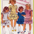 Child's Pretty Ruffled Party Dress Sz 3-5 Uncut Style Sewing Pattern 3824 Puff Sleeves Drop Waist