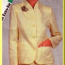 Women's Professional Office Skirt Suit Sz 12-16 Uncut Simplicity 6281 Retro Funnel Neckline Jacket