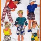 Children's Easy-to-sew Pull-on Bottoms Sz L Uncut Simplicity 7534 Elastic Jams Bermuda Shorts Pants