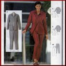 Elegant Basic Women's Office Pantsuit Sz 8-16 Uncut Burda 2682 Button or Zipper Front Collar Jacket