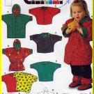 Children's Knit Top Anorak Jacket Sz 3M-3 Burda Sewing Pattern 5317 Hooded Coat Shirt Raglan Sleeves