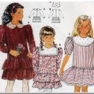 Girls' Ruffled Party Dress Size 4-10 Burda Sewing Pattern 5320 Dainty Puff Sleeves Gathered Skirt