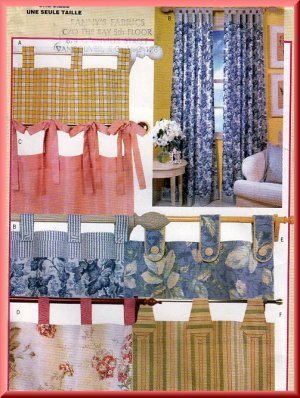 Window Treatment Patterns - Curtain Patterns - Window Treatment Ideas