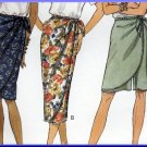 Women's Mock Sarong Skirt and Skort Sz 6-10 Uncut Butterick 6715 Pretty Tropical Cruise Holiday Wear