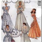 Lady Di Retro Glam Wedding Gown Size 10 Uncut McCall's 5746 Princess Bridal Dress Bridesmaid Gown