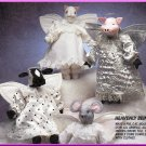 Heavenly Angel Wing Dolls Clothes McCall's Sewing Pattern 6075 Pig Cat Mouse Cow Stuffed Animal Toy